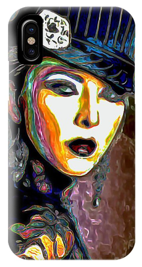 Ms Boss Lady IPhone X Case featuring the painting Ms Boss Lady by Fli Art