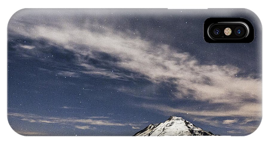 Washington IPhone X Case featuring the photograph Mt. Baker At Night 2 by Paul Conrad