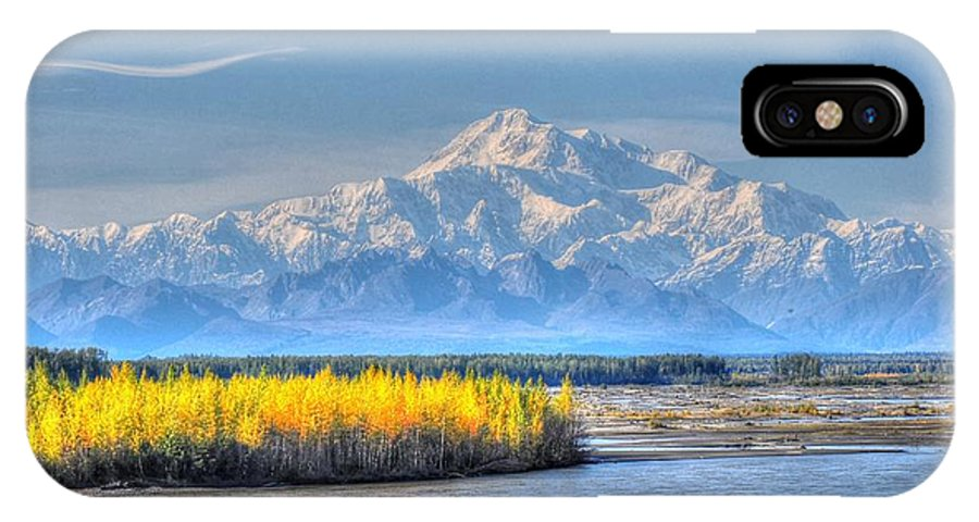 Alaska IPhone X Case featuring the photograph Mt Mckinley - Alaska by Bruce Friedman