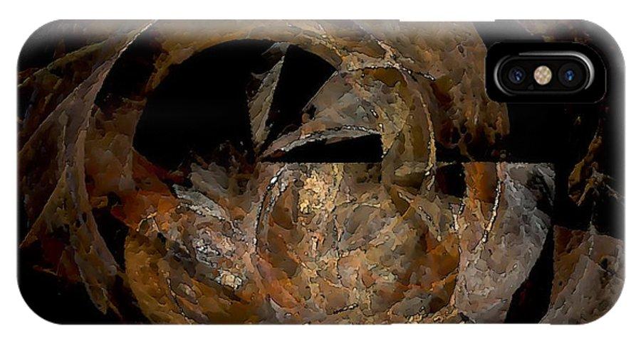 Graphics IPhone X Case featuring the digital art Mug 0597 Marucii by Marek Lutek