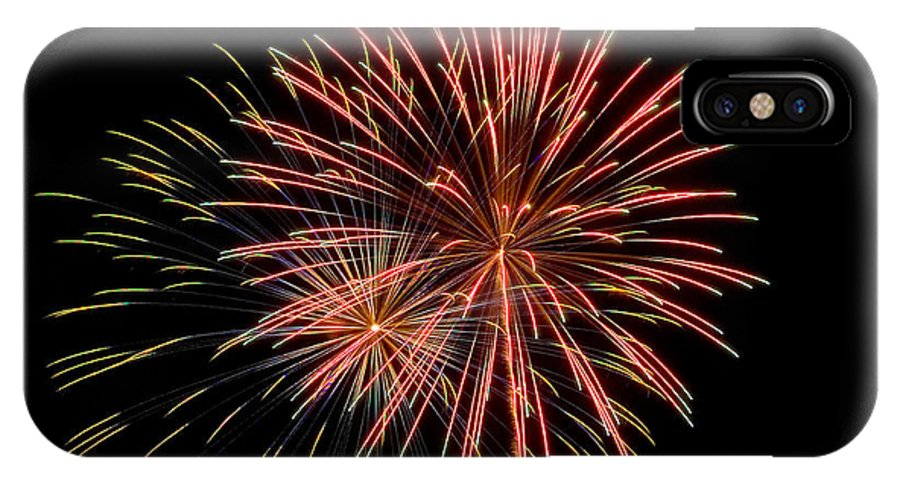Fireworks IPhone X Case featuring the photograph Multiple Stars by Devinder Sangha