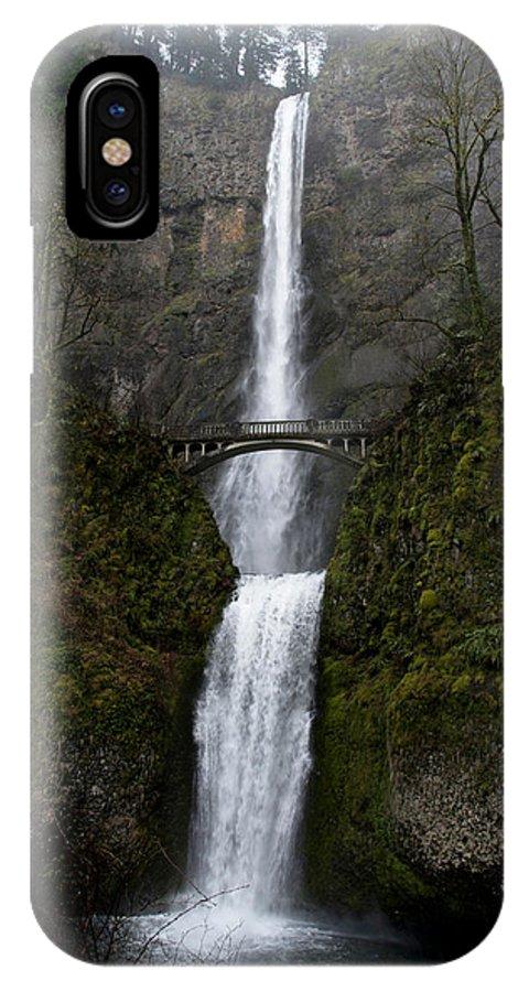Multnomah Falls IPhone X Case featuring the photograph Multnomah Falls by Betty Depee