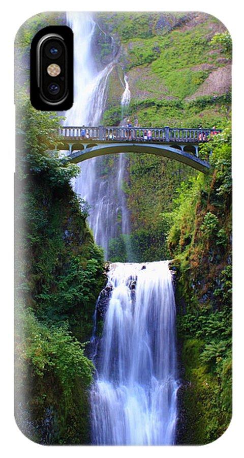 Oregon IPhone X / XS Case featuring the photograph Multnomah Falls by Bryan Rasmussen