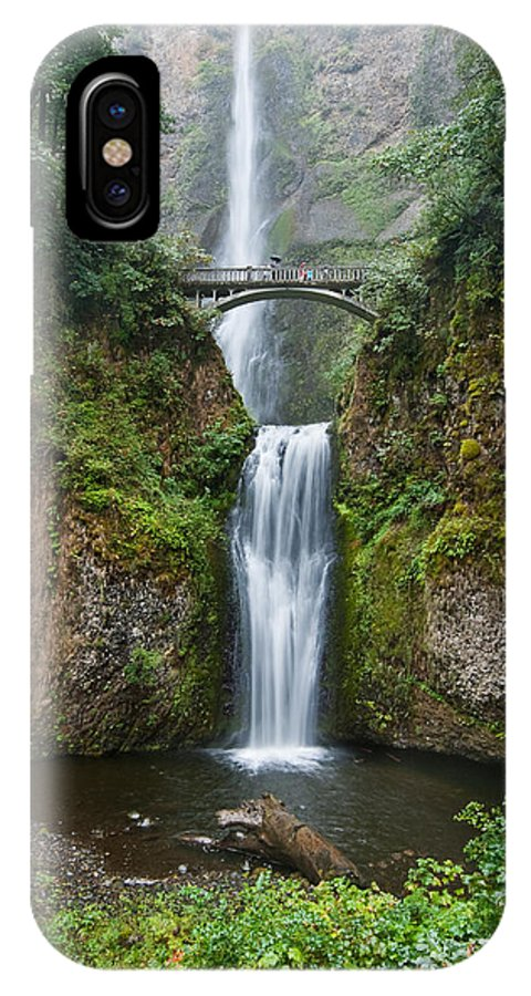 Beauty In Nature IPhone X Case featuring the photograph Multnomah Falls by Jeff Goulden