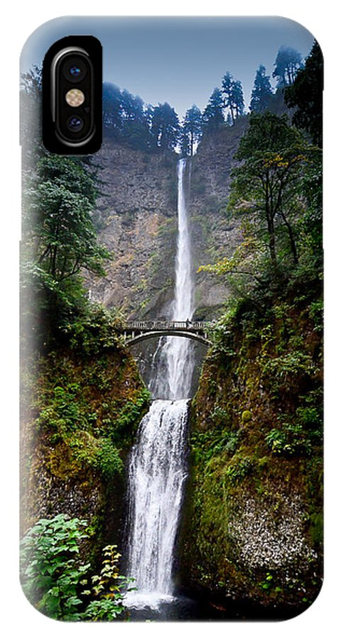 Oregon IPhone X Case featuring the photograph Multnomah Falls Oregon State Waterfall by Puget Exposure