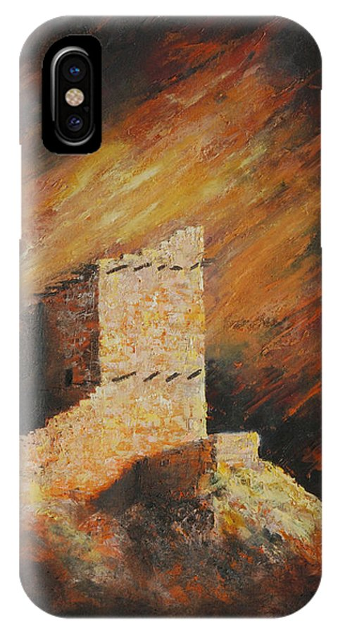 Anasazi IPhone Case featuring the painting Mummy Cave Ruins 2 by Jerry McElroy