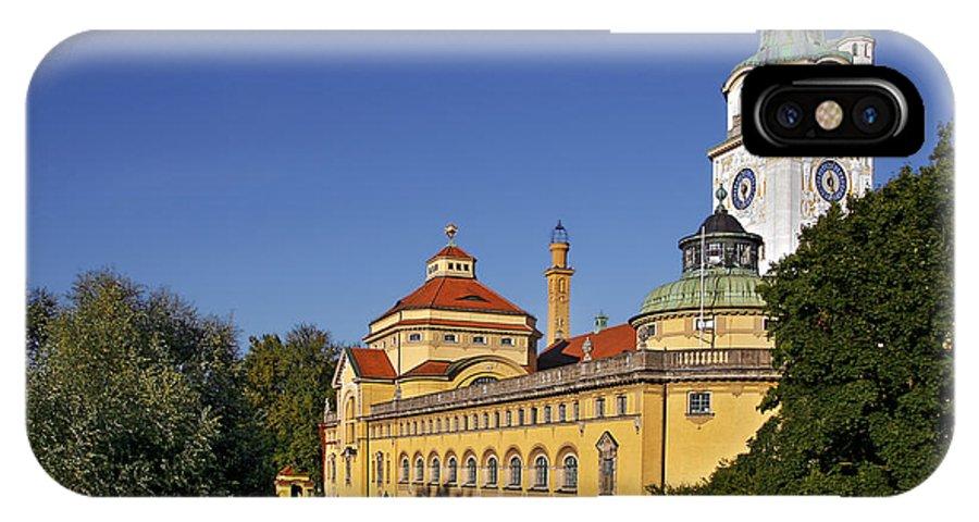 Mullersches IPhone X Case featuring the photograph Munich - Mueller'sches Volksbad - Au-haidhausen by Christine Till