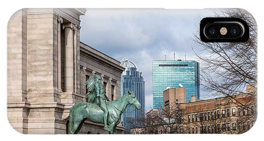 America IPhone X Case featuring the photograph Museum Of Fine Arts View by Susan Cole Kelly