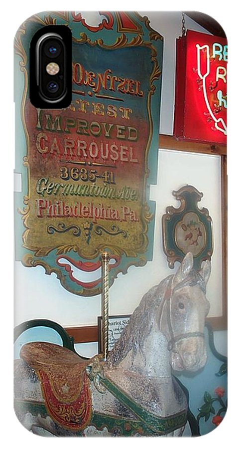 Antique Carousel IPhone Case featuring the photograph Museum Pieces by Barbara McDevitt