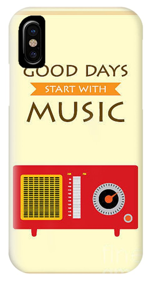 Antenna IPhone X Case featuring the digital art Music Radio Poster by Judilyn