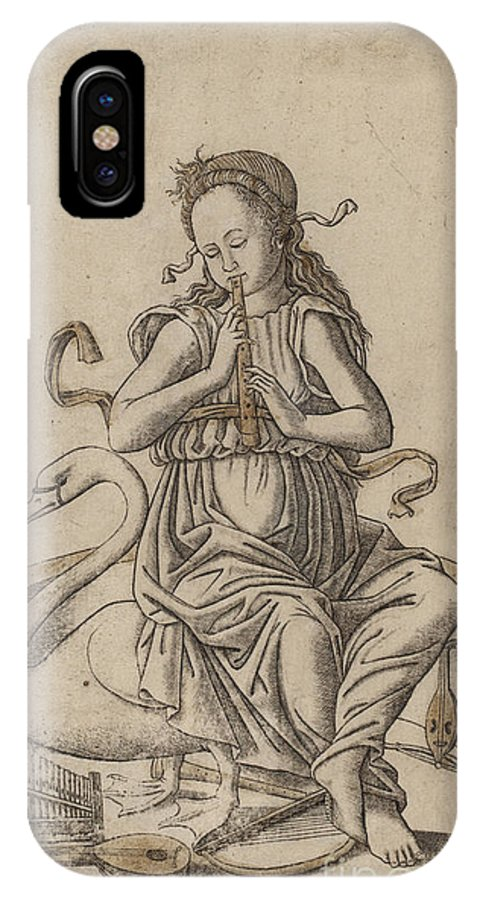 Ancient IPhone X / XS Case featuring the mixed media Musicha by Indian Summer