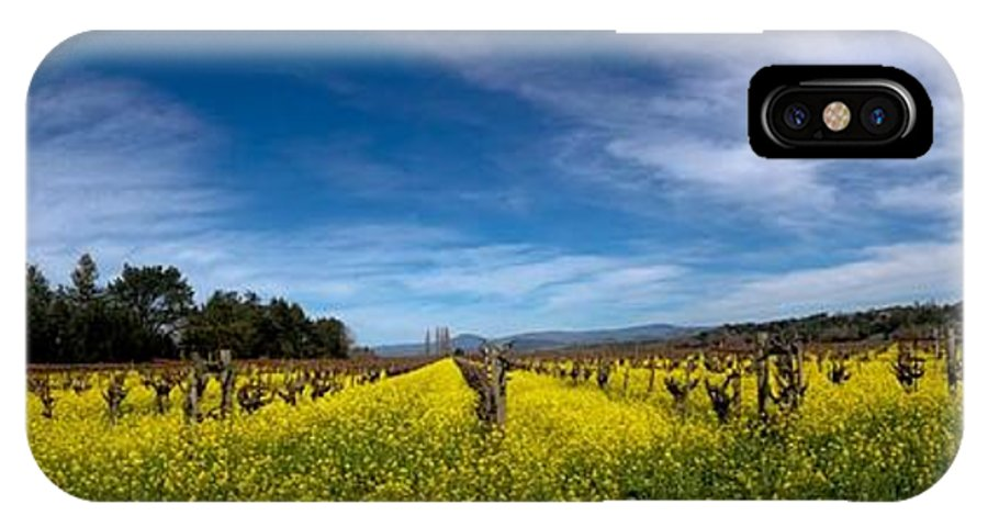 Mustard Flowers IPhone X Case featuring the photograph Mustard In The Vineyard 2 by Remy Gervais