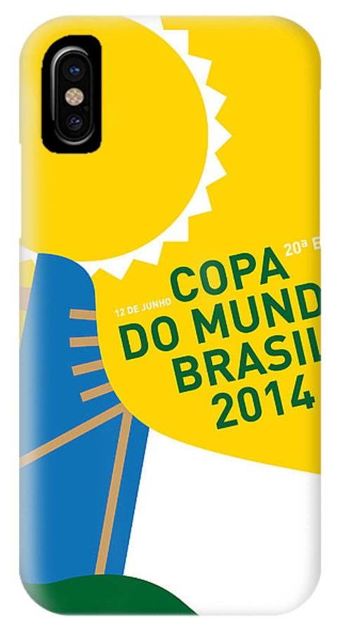 My 2014 World Cup Soccer Brazil Rio Minimal Poster Iphone X Case