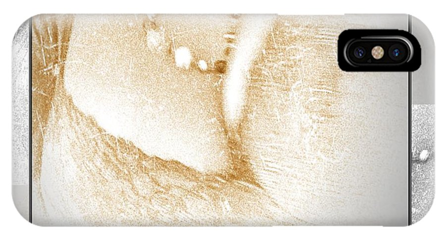 Breasts IPhone X Case featuring the photograph My Breasts by Ernestine Manowarda
