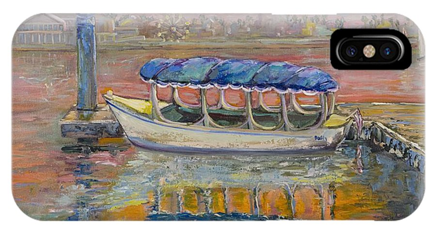 Ocean IPhone X Case featuring the painting My Favorite Duffy Boat by Nancy LaMay