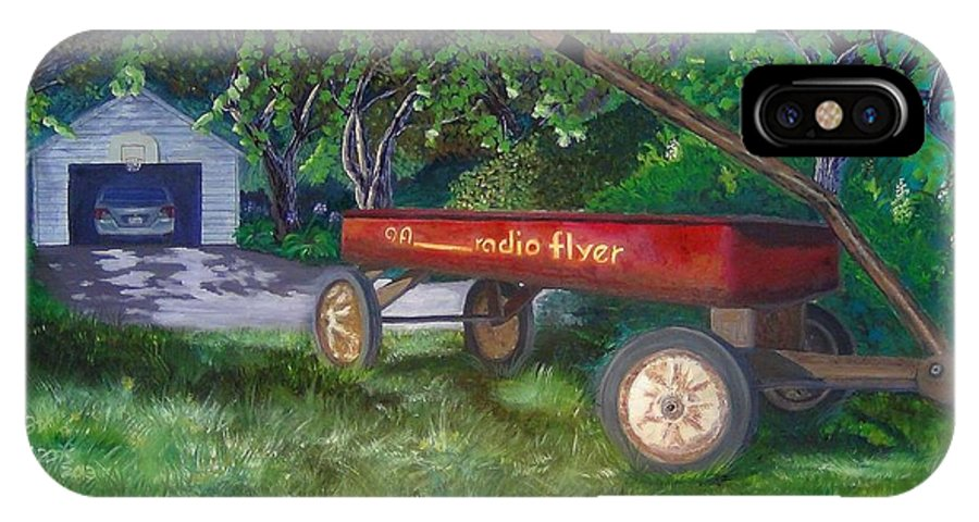 Radio IPhone X Case featuring the painting My First Car by Ryan Williams