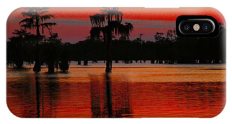Landscape IPhone X Case featuring the photograph My Louisiana Heart by Luana K Perez