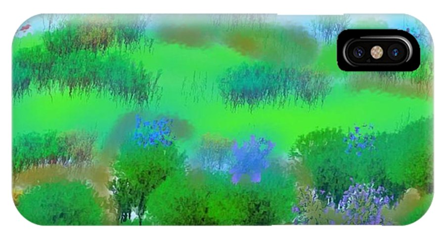 Morning IPhone X Case featuring the digital art My Morning Window View by Dr Loifer Vladimir