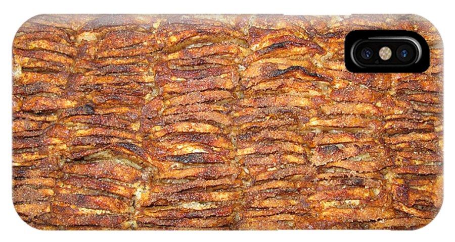 Food IPhone X Case featuring the photograph My Special Hommemade Apple Cake by Ausra Huntington nee Paulauskaite