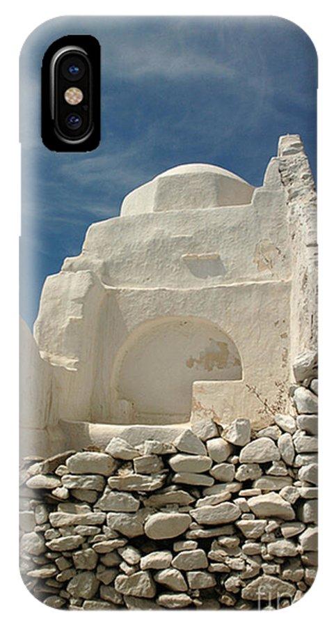 Church IPhone X Case featuring the photograph Mykonos Church by Vivian Christopher