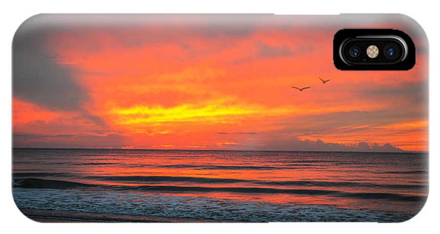 Myrtle Beach IPhone X Case featuring the photograph Myrtle Beach Sunrise by Mary Timman