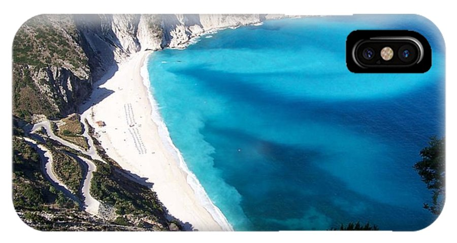 Beach IPhone X Case featuring the photograph Myrtos by Nick Mosher