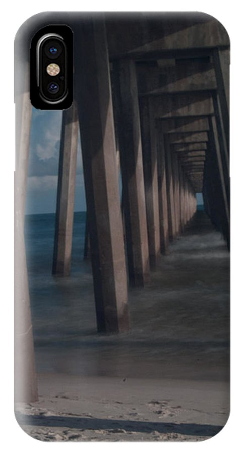 Pier IPhone X Case featuring the photograph Myst Under The Pier by Jon Cody