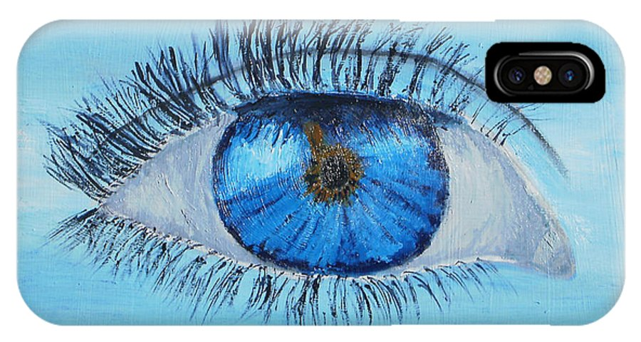 Impressionism IPhone X Case featuring the painting Mystic Eye by Pamela Meredith