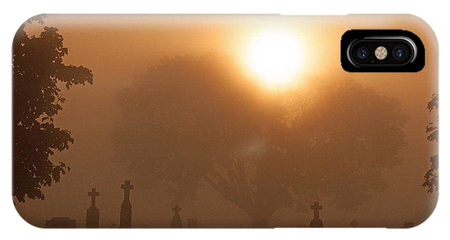 Fog IPhone X Case featuring the photograph Mystical Fog by Patti Raine