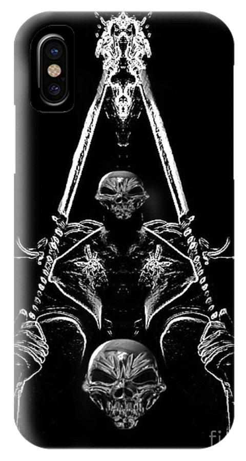 Blair Stuart IPhone X Case featuring the digital art Mythology And Skulls 2 by Blair Stuart