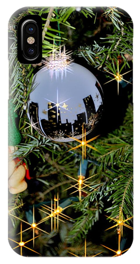 New York IPhone X Case featuring the photograph N Y C Ornament by Caroline Stella