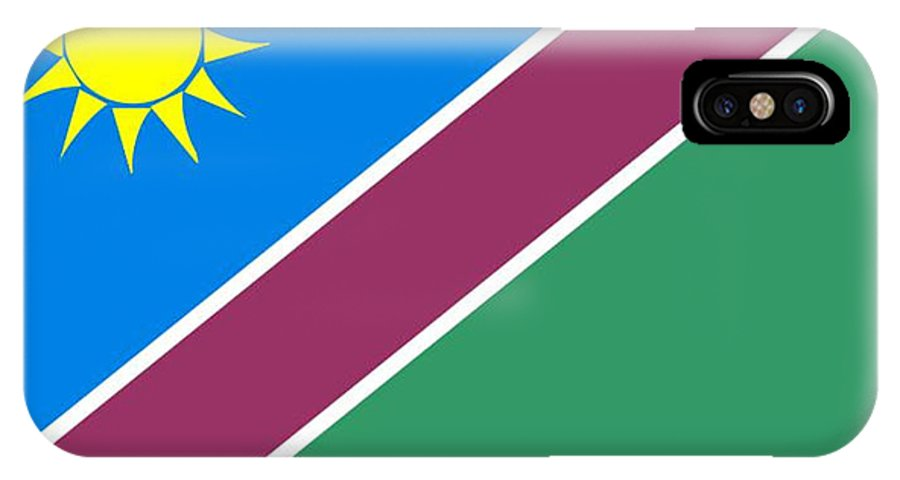 Namibia IPhone X Case featuring the digital art Namibia Flag by Frederick Holiday