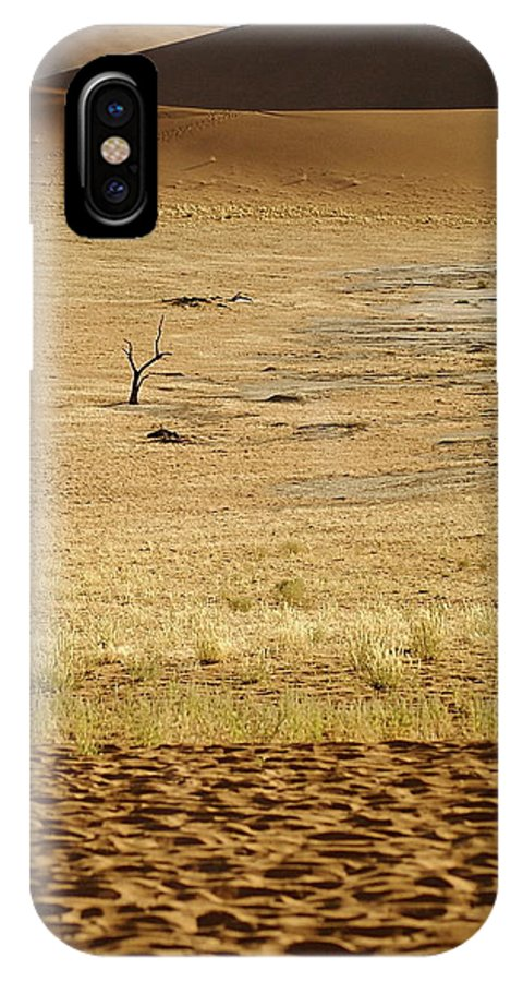 Namibia IPhone X Case featuring the photograph Namibian Desert Scene 1 by Marc Levine