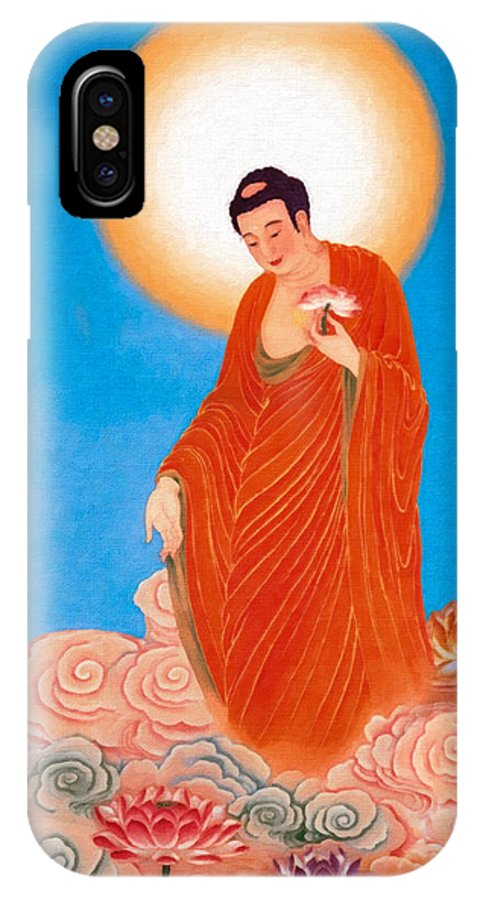 Worshipping Buddha IPhone X Case featuring the photograph Namo Amitabha Buddha 15 by Jeelan Clark