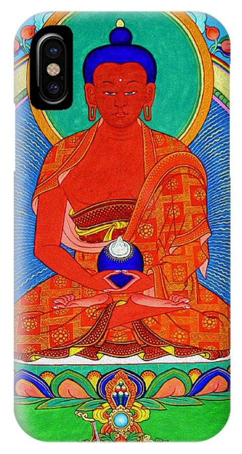 Worshipping Buddha IPhone X Case featuring the photograph Namo Amitabha Buddha 16 by Jeelan Clark