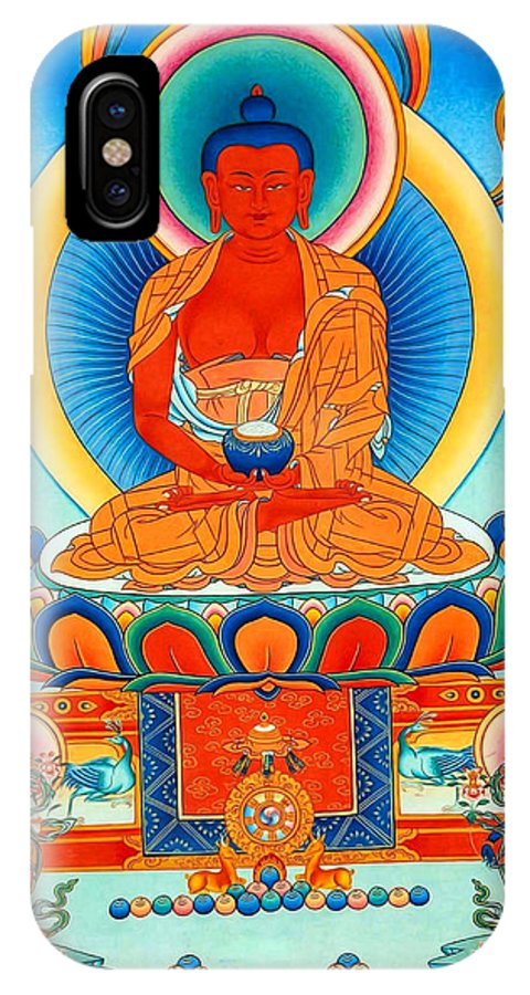 Worshipping Buddha IPhone X Case featuring the photograph Namo Amitabha Buddha 35 by Jeelan Clark