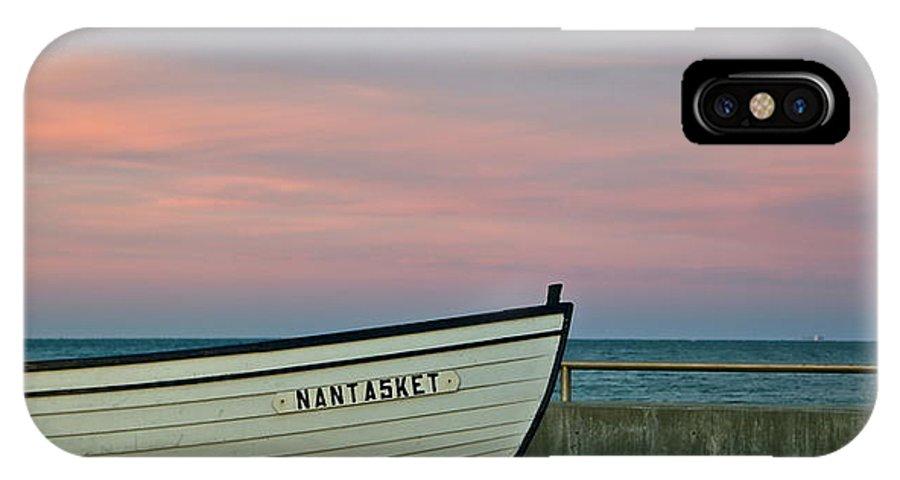 Nantasket Beach IPhone X Case featuring the photograph Nantasket Beach Boat by Patricia Abbate