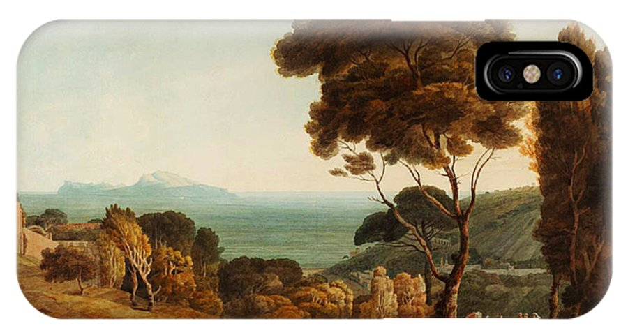 Francis Townenaples And Capri IPhone X / XS Case featuring the painting Naples And Capri by Celestial Images