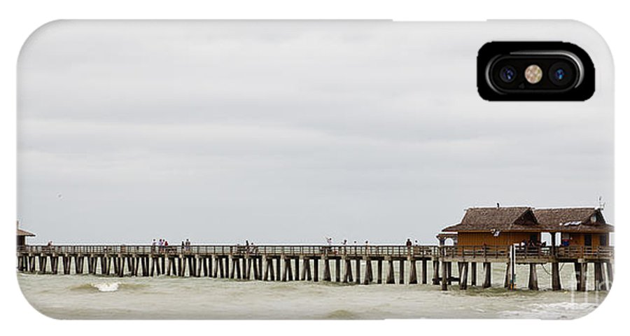 Fishing IPhone X Case featuring the photograph Naples Fishing Pier by Les Palenik