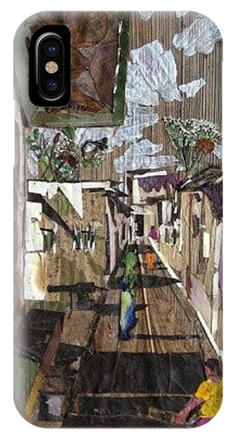 Street Scene IPhone X Case featuring the mixed media Narrow street by Basant Soni