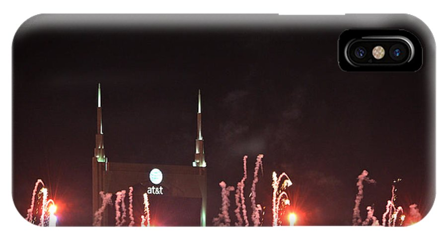 Nashville IPhone X Case featuring the photograph Nashville Fireworks 2014 Close Up by Ally White