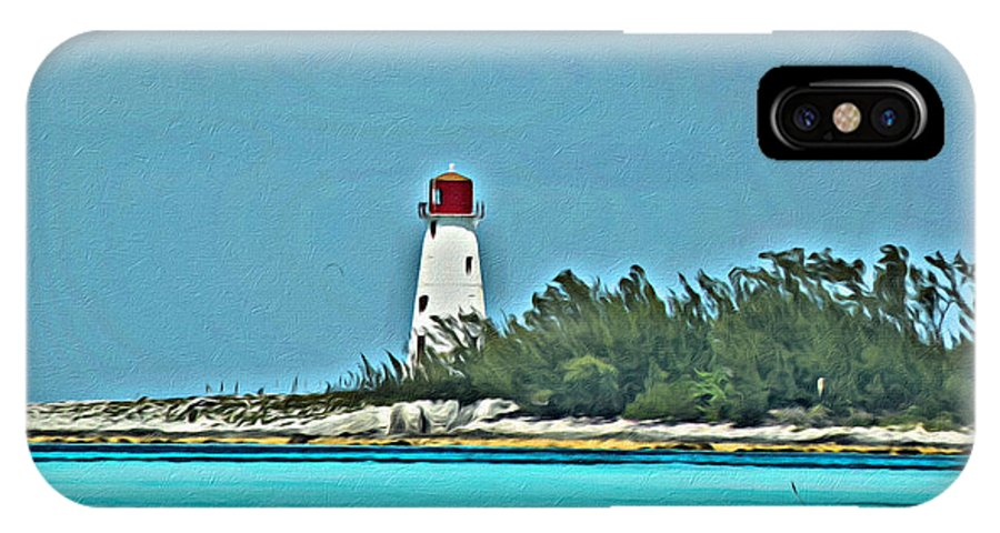 Bahama IPhone X Case featuring the photograph Nassau Bahama Lighthouse by Scott Hervieux