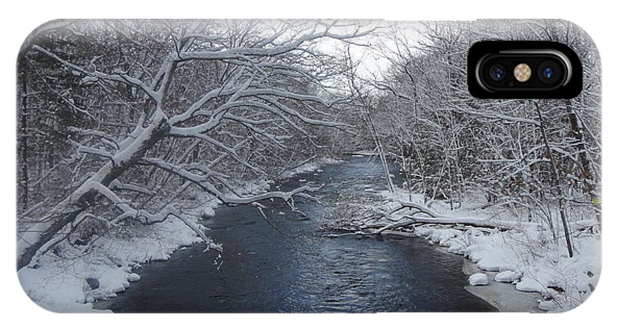 Winter IPhone X Case featuring the photograph Natchaug River by Ara Wilnas