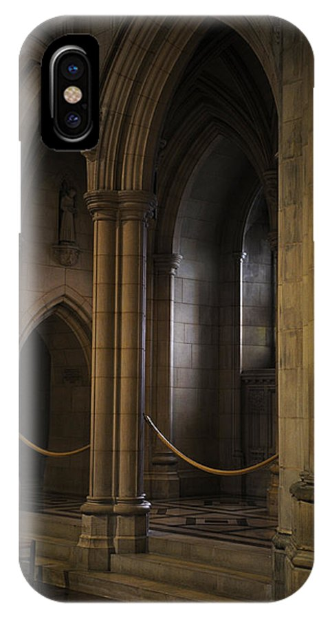 National Cathedral IPhone X Case featuring the photograph National Cathedral Interior by David Lunde