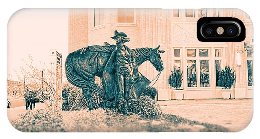 National Cowgirl Museum IPhone X Case featuring the photograph National Cowgirl Museum V2 by Douglas Barnard