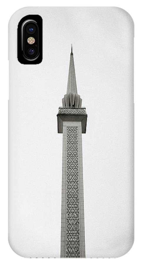 Asia IPhone X Case featuring the photograph National Mosque by Shaun Higson