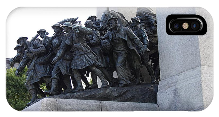 National War Memorial IPhone X Case featuring the photograph National War Memorial Detail - Ottawa by Christiane Schulze Art And Photography
