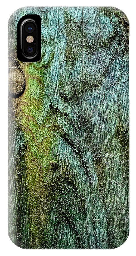 Wood IPhone X Case featuring the photograph Natural Interconnections by Sandra Pena de Ortiz