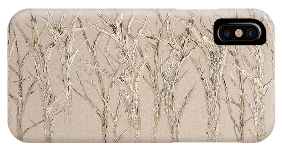 Trees IPhone X / XS Case featuring the painting Natural by Kim Wild