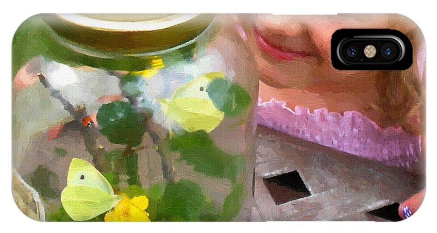 Natural Wonderment By Doug Kreuger IPhone X Case featuring the painting Natural Wonderment by Doug Kreuger